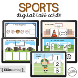 Sport Themed Preschool Boom Cards for Virtual Learning