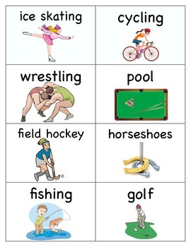 Sport Word Cards