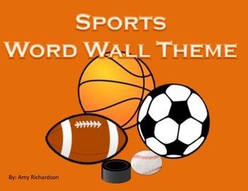 Sport Word Wall w/Hockey Size 3x3