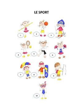 Sport, associer et discuter, French activity on sports