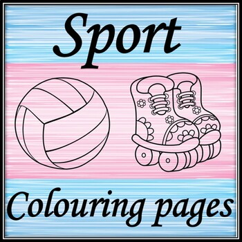 Sport equipment. Coloring pages.