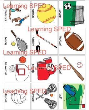Sport flash cards activity cards learning sports