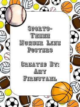 Sports-theme Number Line Posters...Version 1!