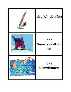 Sportarten (Sports in German) Concentration games
