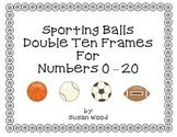 Sporting Balls Double Ten Frames