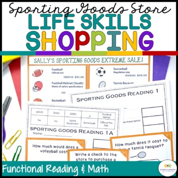Sporting Goods Shopping: Functional Literacy and Math Skills (Special Education)