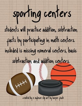 Sporting Math Centers