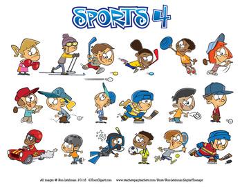 Sports 4 Cartoon Clipart