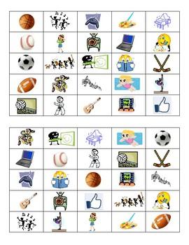 Sports & Activities Bingo - Class Set