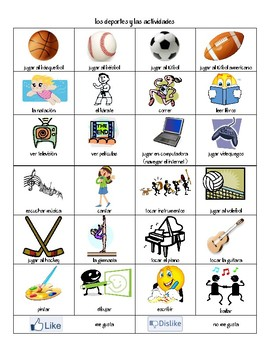 Sports & Activities Vocabulary List