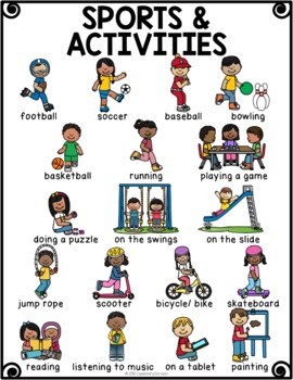 sports activities vocabulary for beginning ells by raise the bar reading. Black Bedroom Furniture Sets. Home Design Ideas
