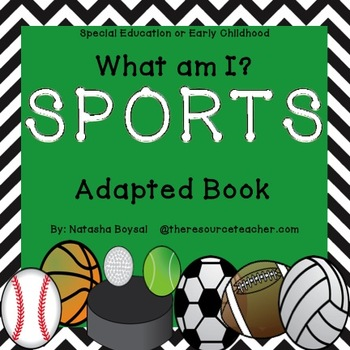 "Adapted Book ""Sports"" for Special Education or Early Childhood)"