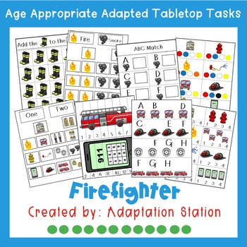 Firefighter Adapted Theme Tabletop Tasks