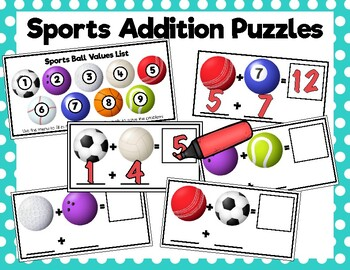 Sports Addition Puzzles