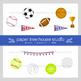 Sports All Star Clip Art Set and Black Line Illustrations