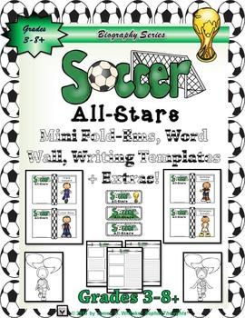 Sports All-Stars Baseball and Soccer Mini Research Fold-Em Bundle