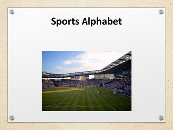 Sports Alphabet beginning text reader
