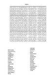 Sports And Extreme - A Word Search Printable