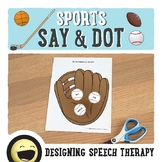 Sports Articulation Sight Words for Speech Therapy