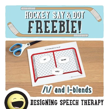 Sports Articulation Sight Words for Speech Therapy Hockey FREEBIE!