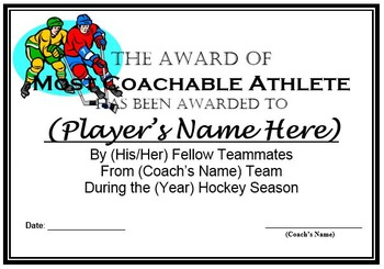 Sports Awards Bundle: Certificates & Ballots - Eight Different Sports!