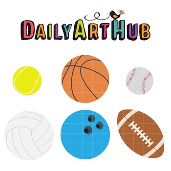 Sports Ball Clip Art - Great for Art Class Projects!