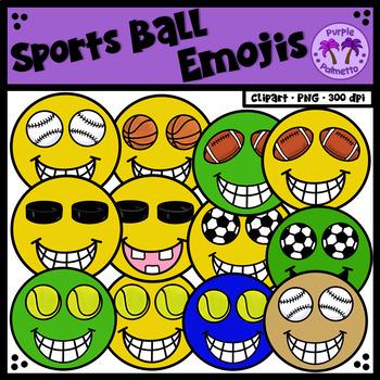 Sports Ball Emojis Clipart