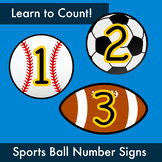 Sports Ball Numbers for Counting Practice (back to school, bulletin boards)