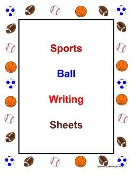 Sports Ball Writing Sheets