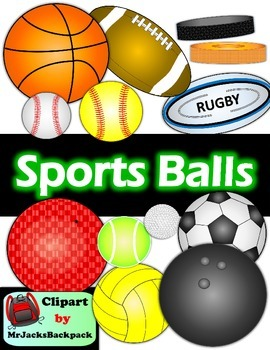 Sports Balls Clipart Bundle