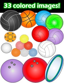 Sports Balls Clipart Bundle