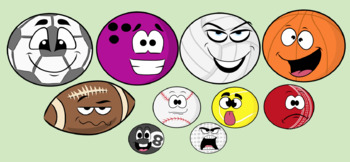 Sports Balls- Cliparts Creator Kit- Personal or Commercial use