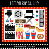 Movie Night-Digital Clipart (LES.CL27A)