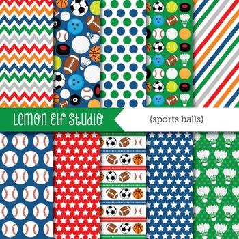 Sports Balls-Digital Paper (LES.DP26)