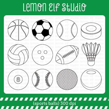 Sports Balls-Digital Stamp (LES.DS26)