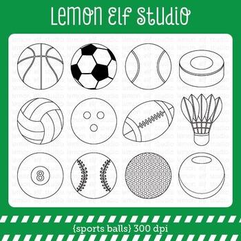 Sports Balls-Digital Stamp (LES.DS26)