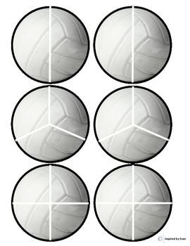 Sports Balls Fractions Cut and Paste for Autism