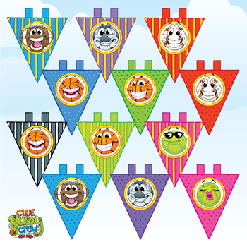 Sports Balls Large Pennant Banner Flags By Melissa Spence Clue Buddy Crew