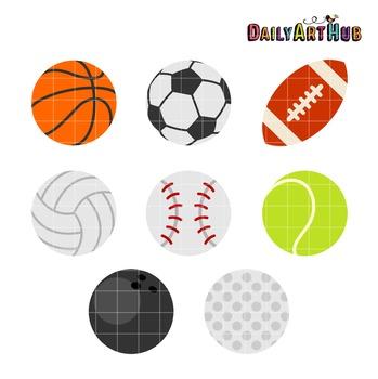 Sports Ballz Clip Art - Great for Art Class Projects!