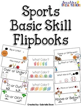 Sports Basic Skill Flipbooks