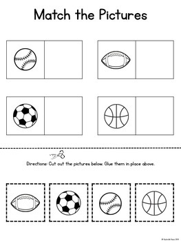 Sports Basic Skills Activity Pack (for students with Autism or Special Needs)