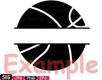 Sports Basketball Soccer Football Tennis clipart monogram svg t-shirt -433S