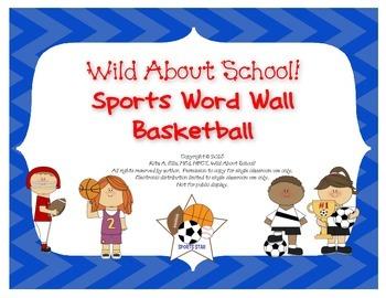 Sports Basketball Word Wall Set