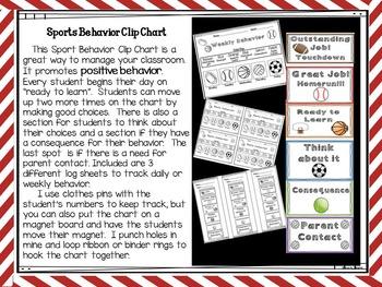 Sports Behavior Clip Chart