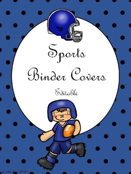 Sports Binder Covers, Spine Labels, and Recording Grade Sheets Editable Form