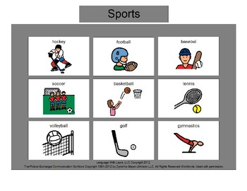 Sports Bingo! [speech therapy and autism]