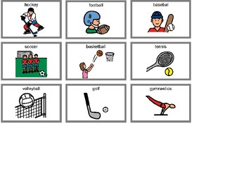 Sports Bingo! Single Board [speech therapy and autism]