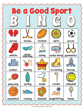 image relating to Free Printable Football Bingo Cards known as Sports activities BINGO - Sporting activities Working day Printable