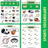 Sports Themed Vocabulary | Matching Activities