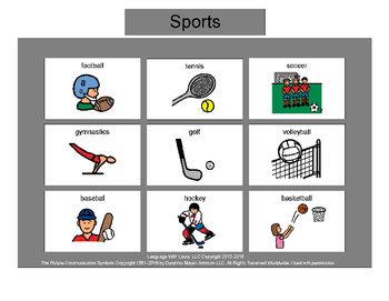 Sports Bingo! Multiple Boards [speech therapy and autism]
